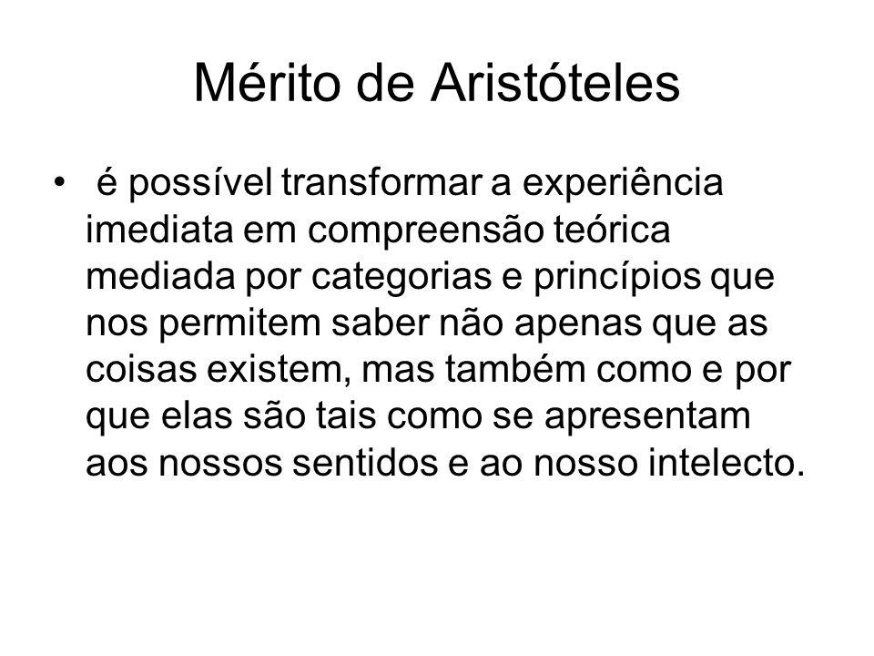Mérito de Aristóteles