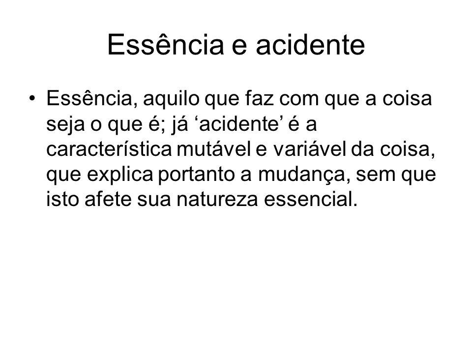 Essência e acidente