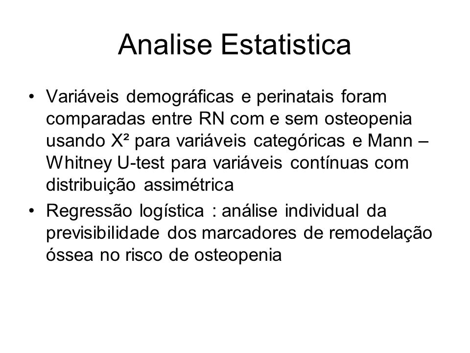 Analise Estatistica
