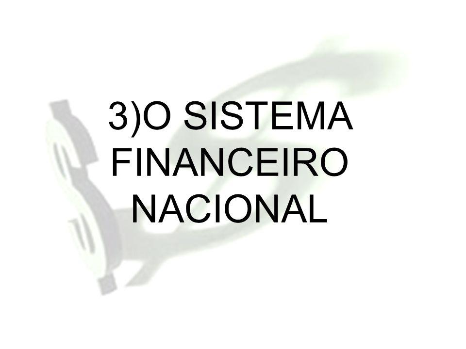 3)O SISTEMA FINANCEIRO NACIONAL
