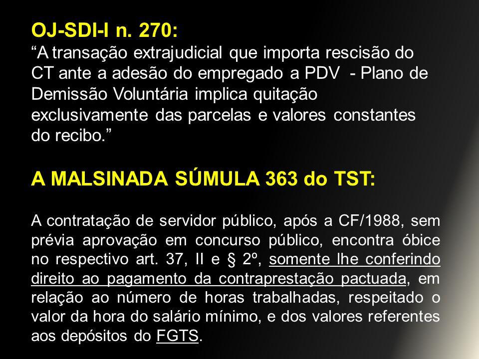 A MALSINADA SÚMULA 363 do TST: