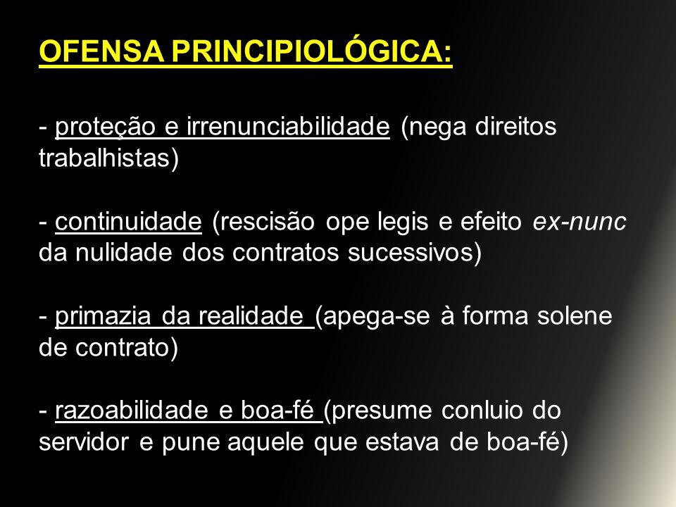 OFENSA PRINCIPIOLÓGICA: