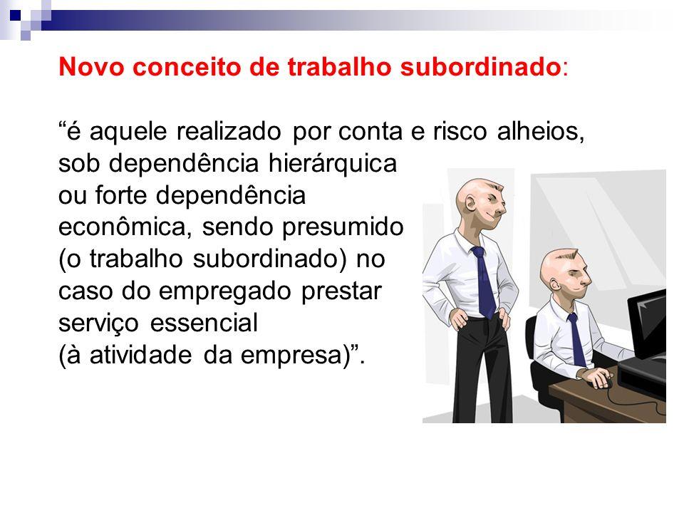 Novo conceito de trabalho subordinado: