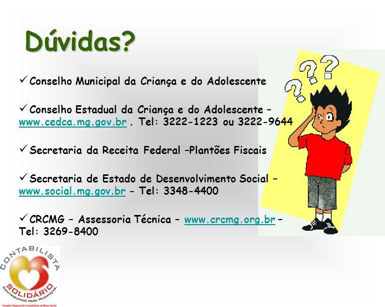 Dúvidas Conselho Municipal da Criança e do Adolescente