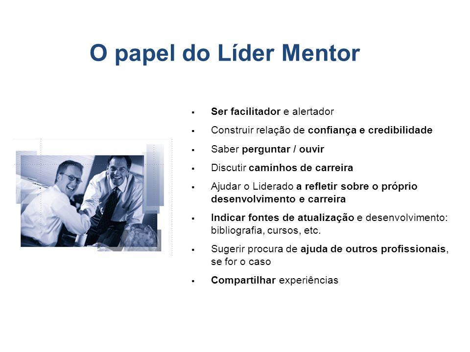 O papel do Líder Mentor Ser facilitador e alertador