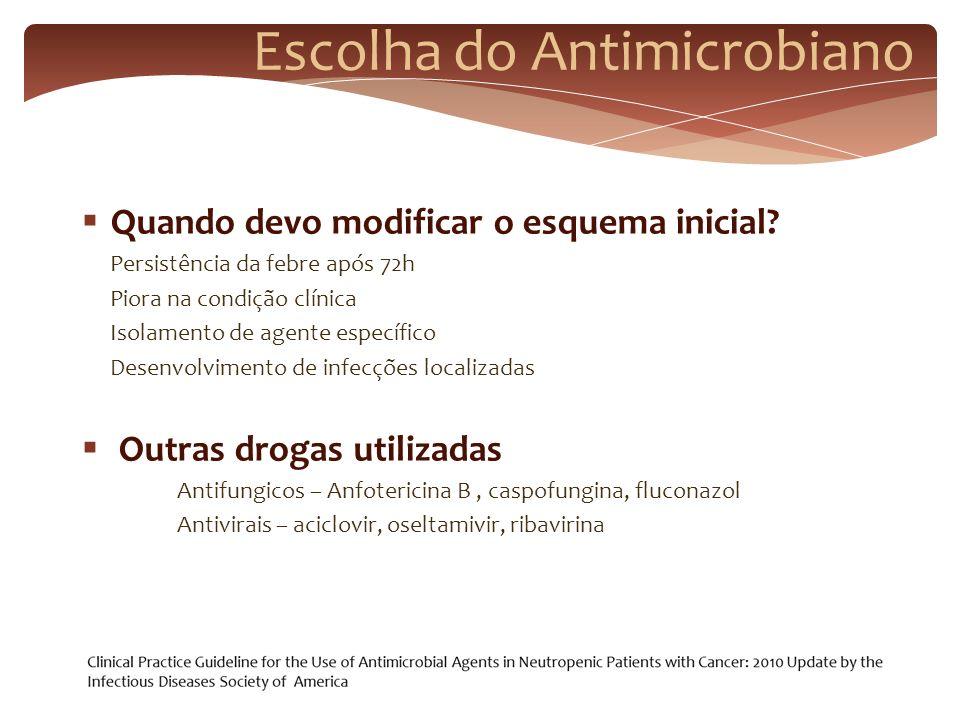 Escolha do Antimicrobiano