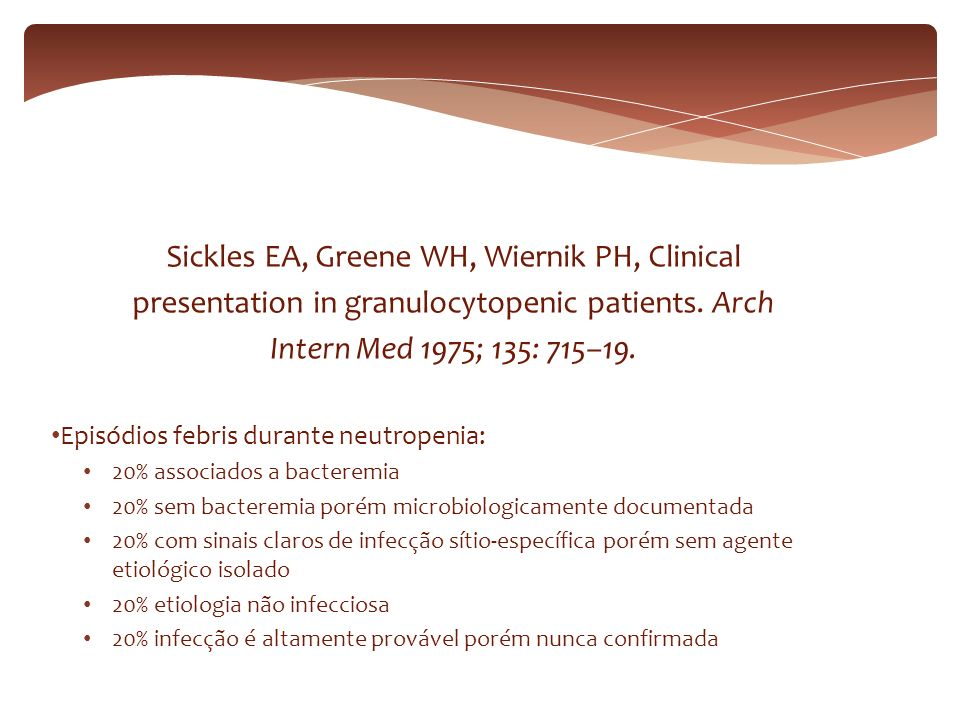 Sickles EA, Greene WH, Wiernik PH, Clinical