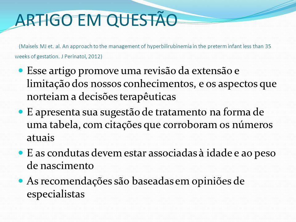 ARTIGO EM QUESTÃO (Maisels MJ et. al