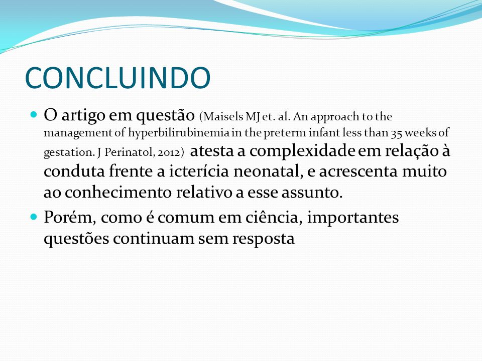 CONCLUINDO