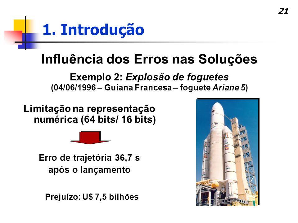 1. Introdução Influência dos Erros nas Soluções