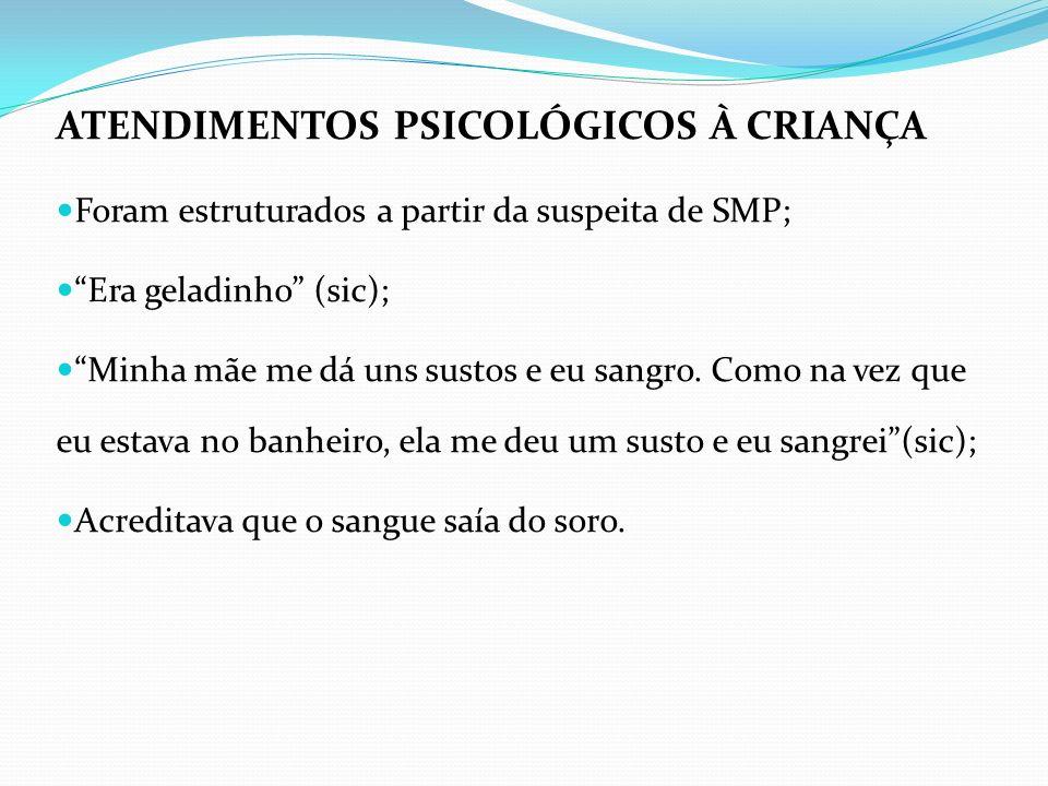 ATENDIMENTOS PSICOLÓGICOS À CRIANÇA