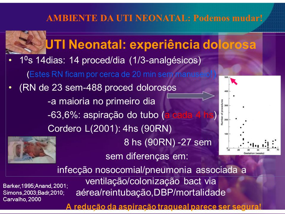 UTI Neonatal: experiência dolorosa