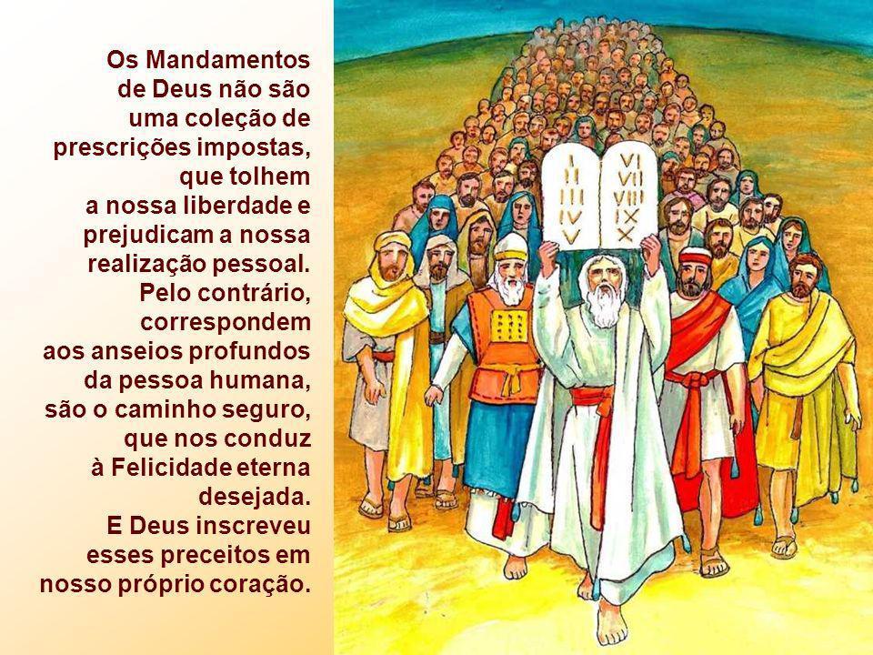 Os Mandamentos de Deus não são uma coleção de prescrições impostas,