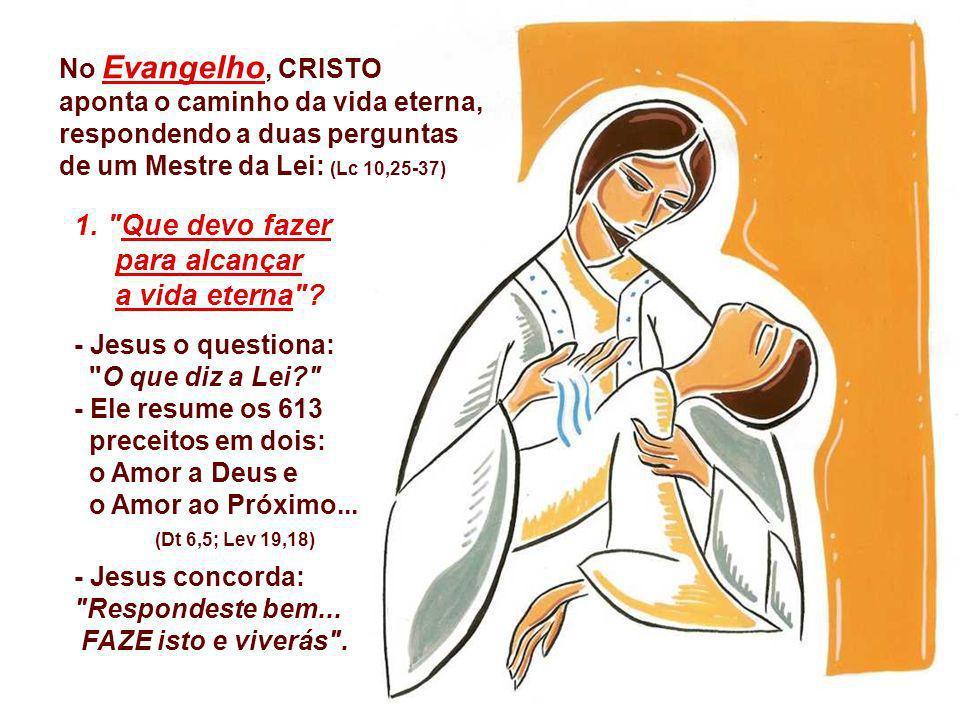 1. Que devo fazer para alcançar a vida eterna No Evangelho, CRISTO