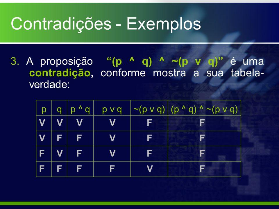 Contradições - Exemplos