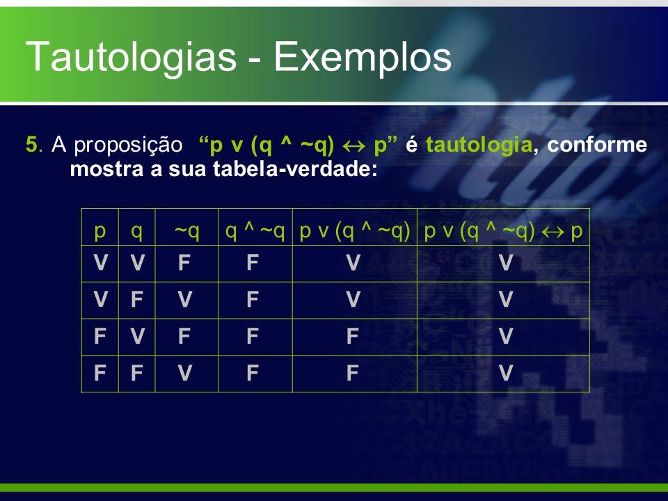 Tautologias - Exemplos