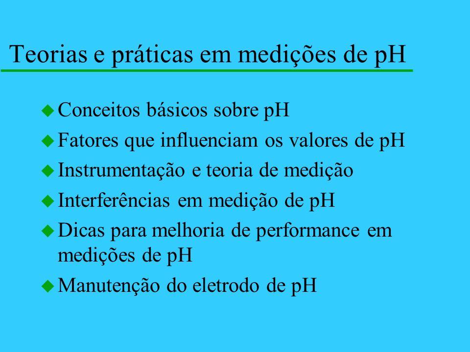 Teorias e práticas em medições de pH