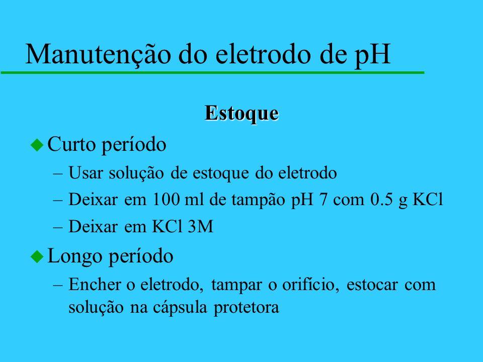 Manutenção do eletrodo de pH