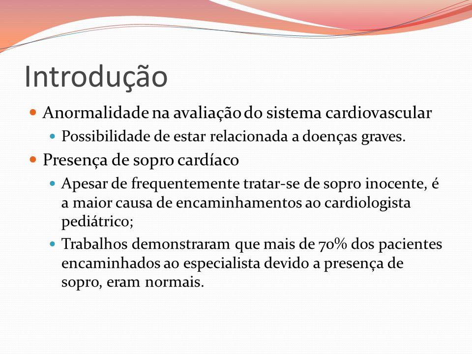 Introdução Anormalidade na avaliação do sistema cardiovascular