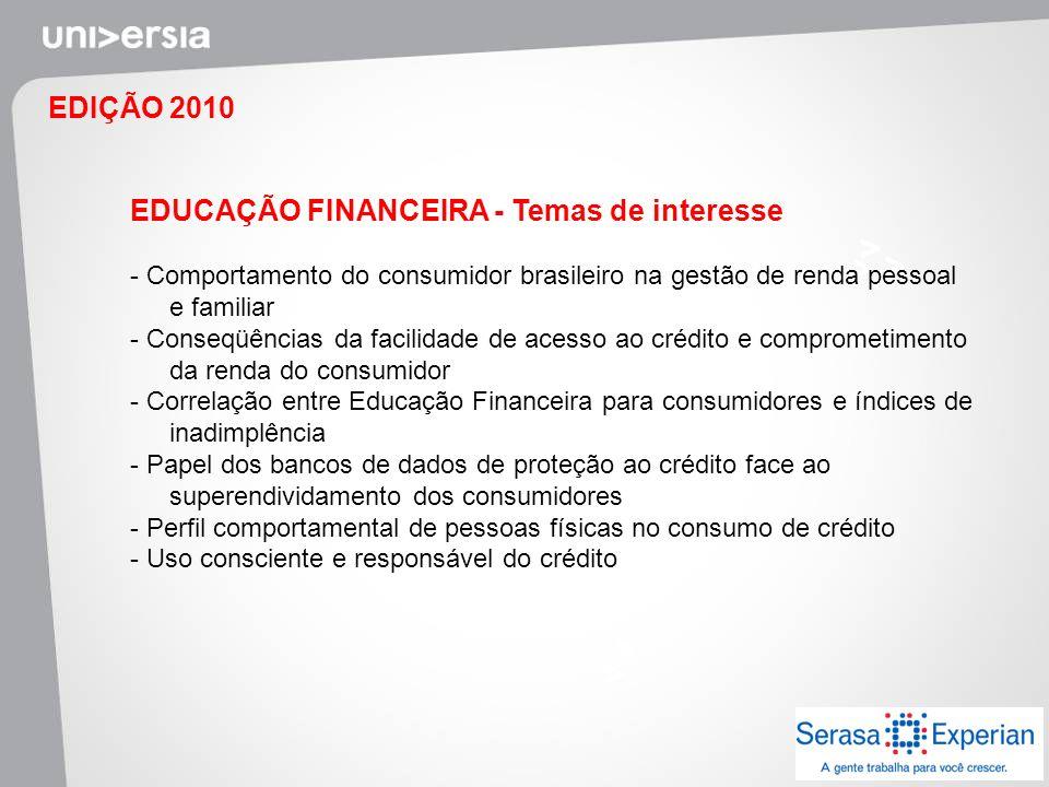 EDUCAÇÃO FINANCEIRA - Temas de interesse
