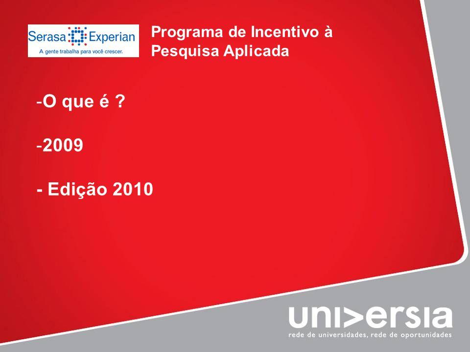 Programa de Incentivo à Pesquisa Aplicada