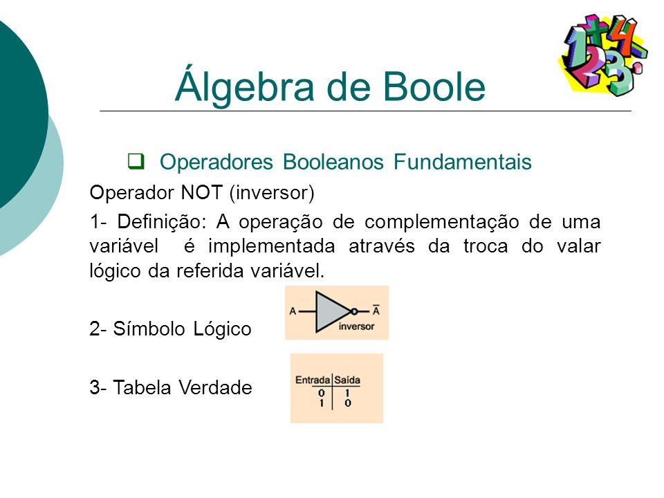 Operadores Booleanos Fundamentais