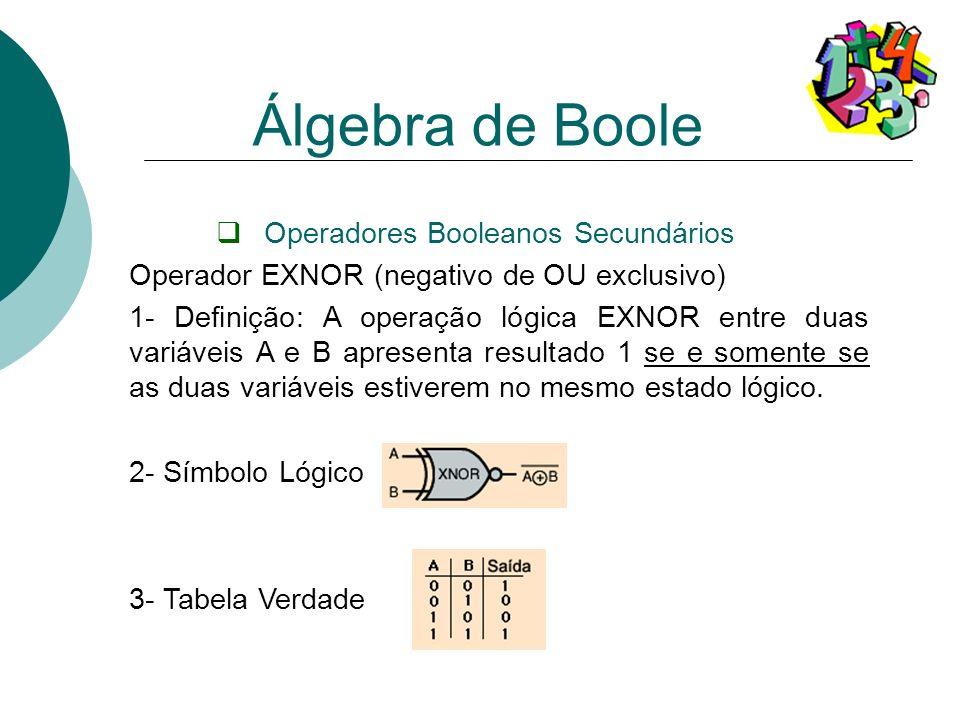 Operadores Booleanos Secundários
