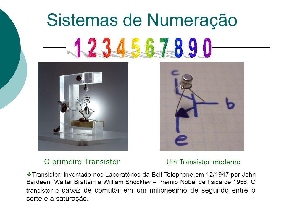 Sistemas de Numeração O primeiro Transistor Um Transistor moderno