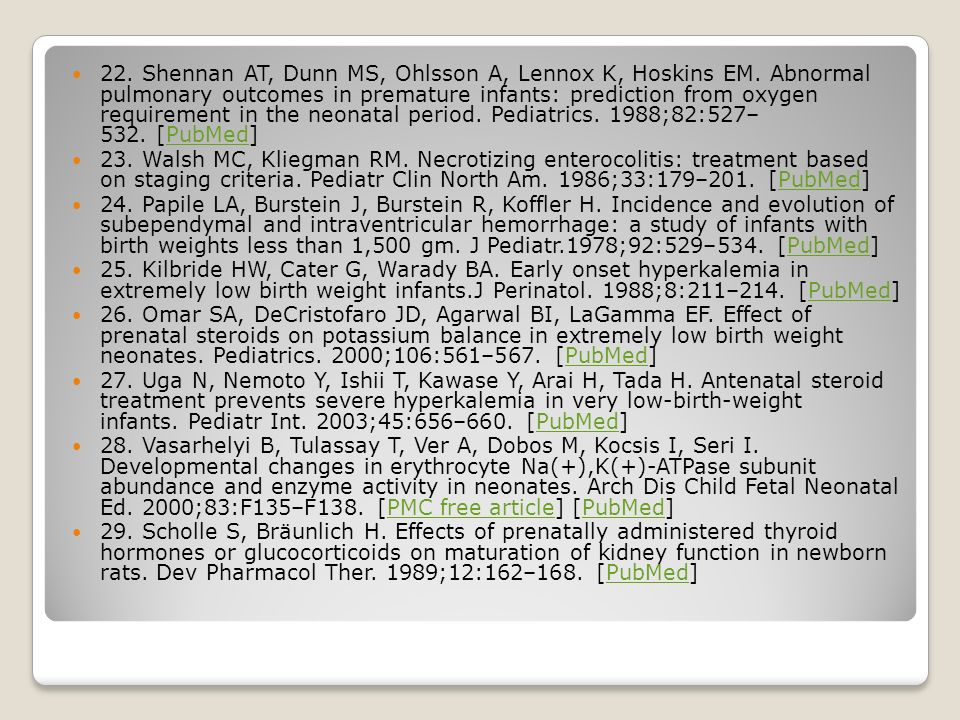 22. Shennan AT, Dunn MS, Ohlsson A, Lennox K, Hoskins EM