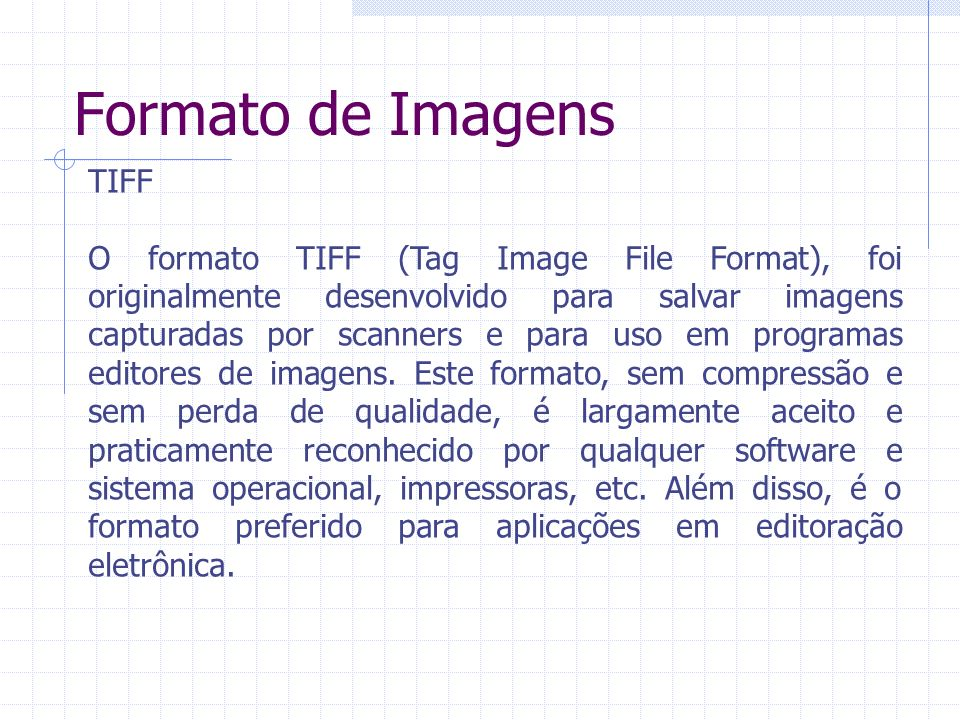 Formato de Imagens TIFF