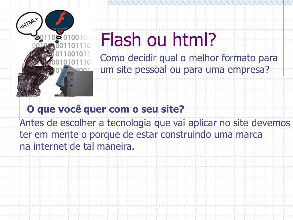Flash ou html Como decidir qual o melhor formato para