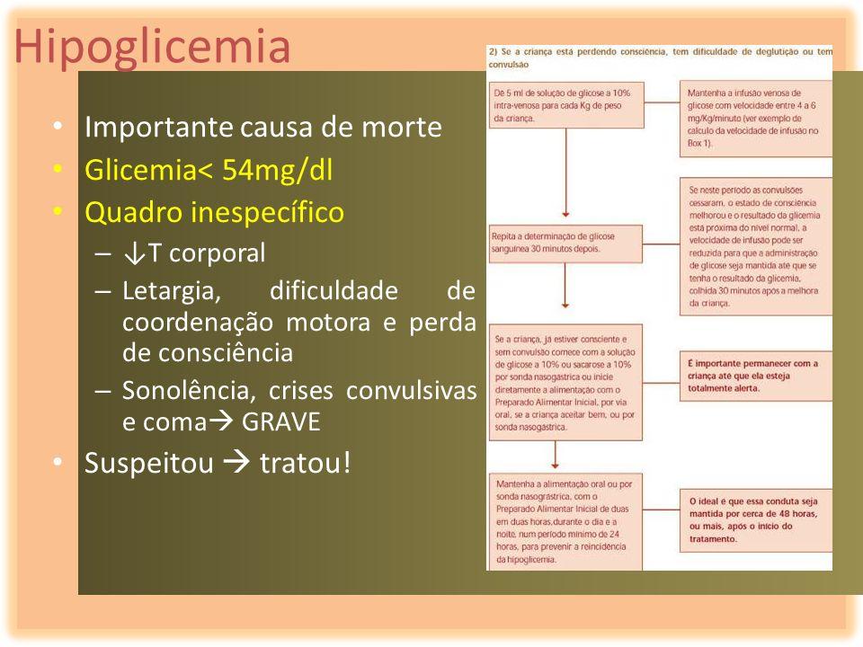 Hipoglicemia Importante causa de morte Glicemia< 54mg/dl