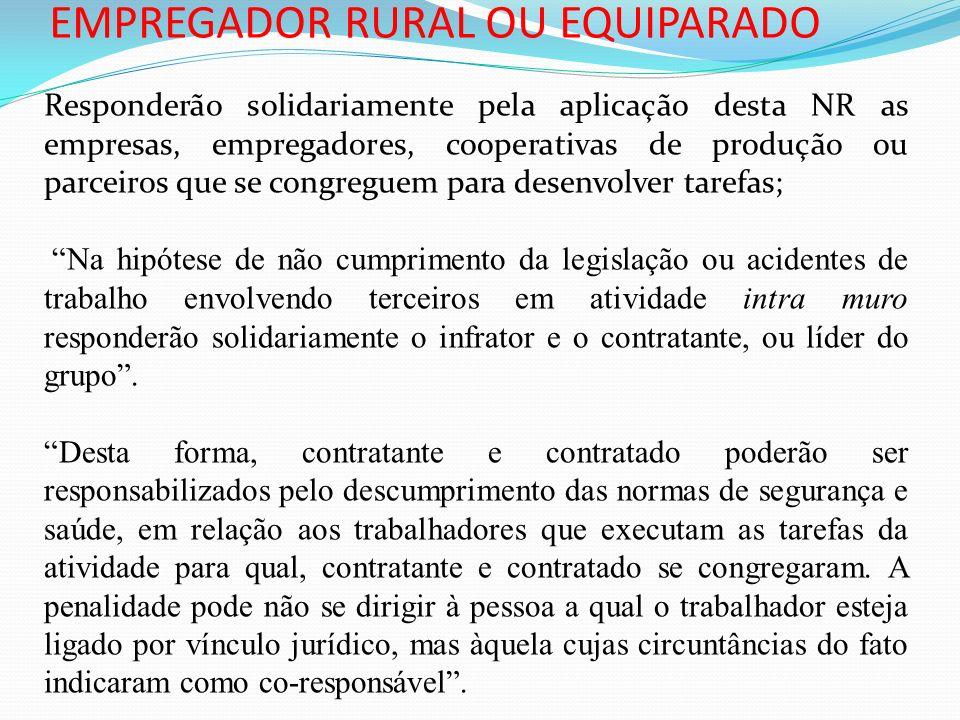 EMPREGADOR RURAL OU EQUIPARADO