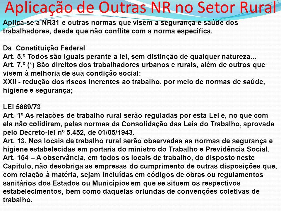 Aplicação de Outras NR no Setor Rural