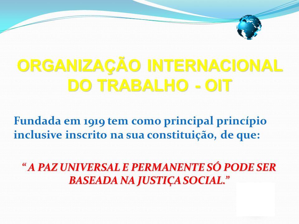 ORGANIZAÇÃO INTERNACIONAL DO TRABALHO - OIT