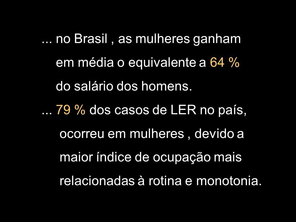 ... no Brasil , as mulheres ganham