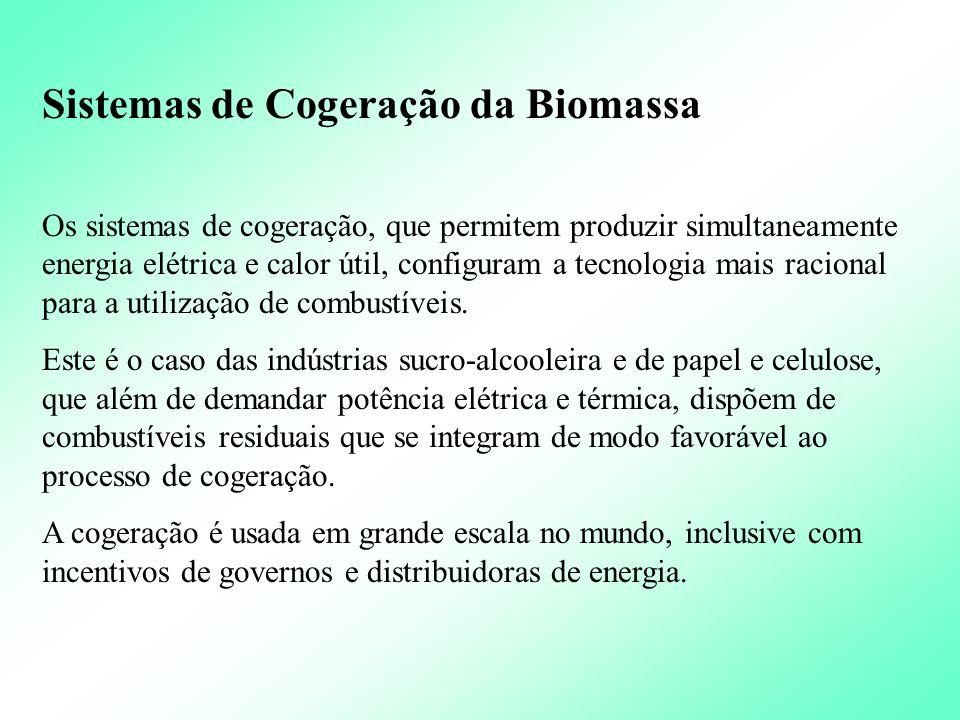 Sistemas de Cogeração da Biomassa