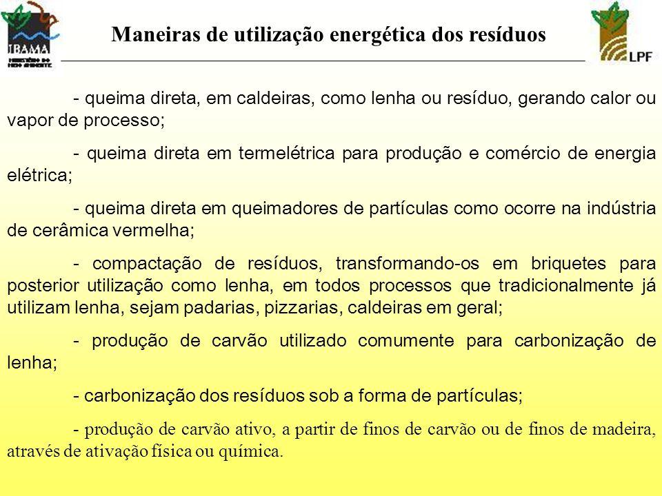 Maneiras de utilização energética dos resíduos
