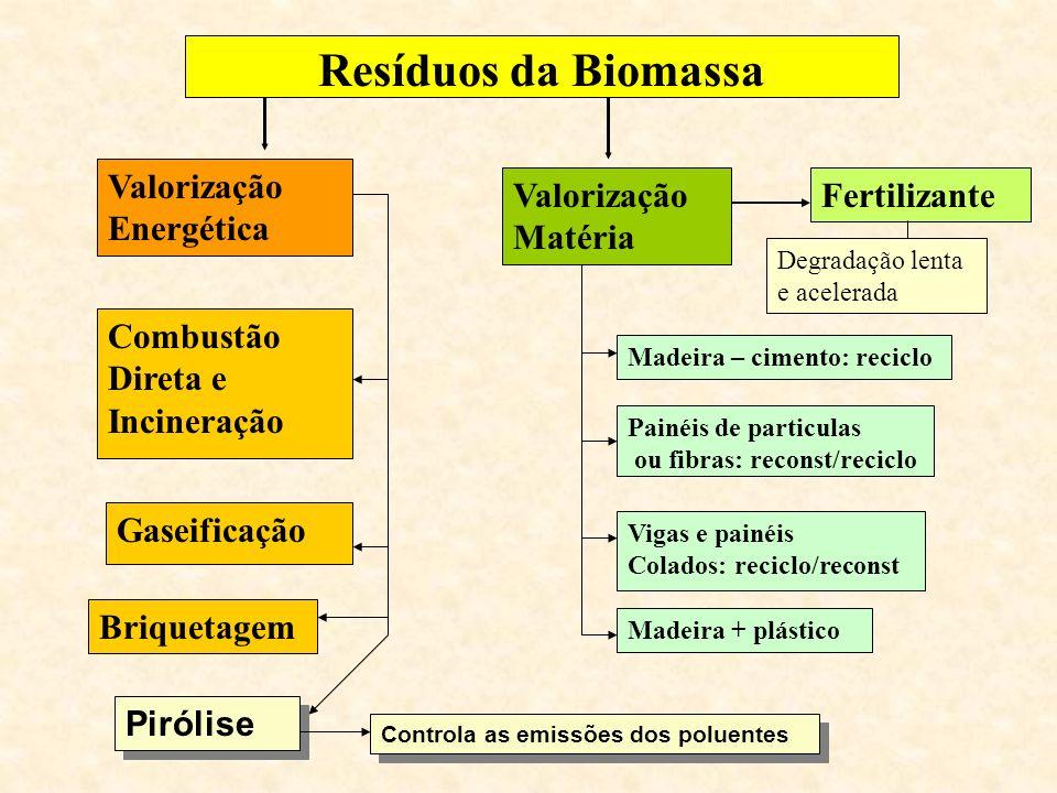 Resíduos da Biomassa Valorização Energética Valorização Matéria