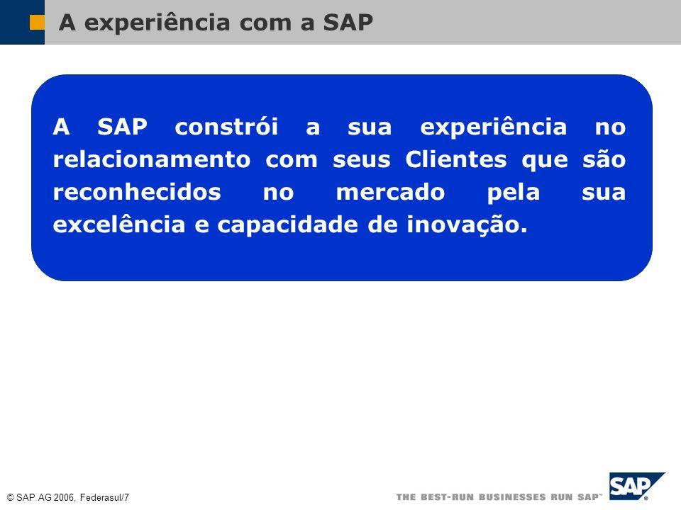 A experiência com a SAP