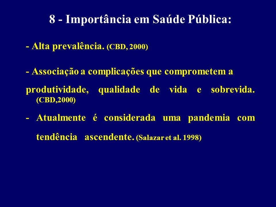 8 - Importância em Saúde Pública: