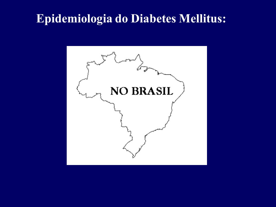 Epidemiologia do Diabetes Mellitus: