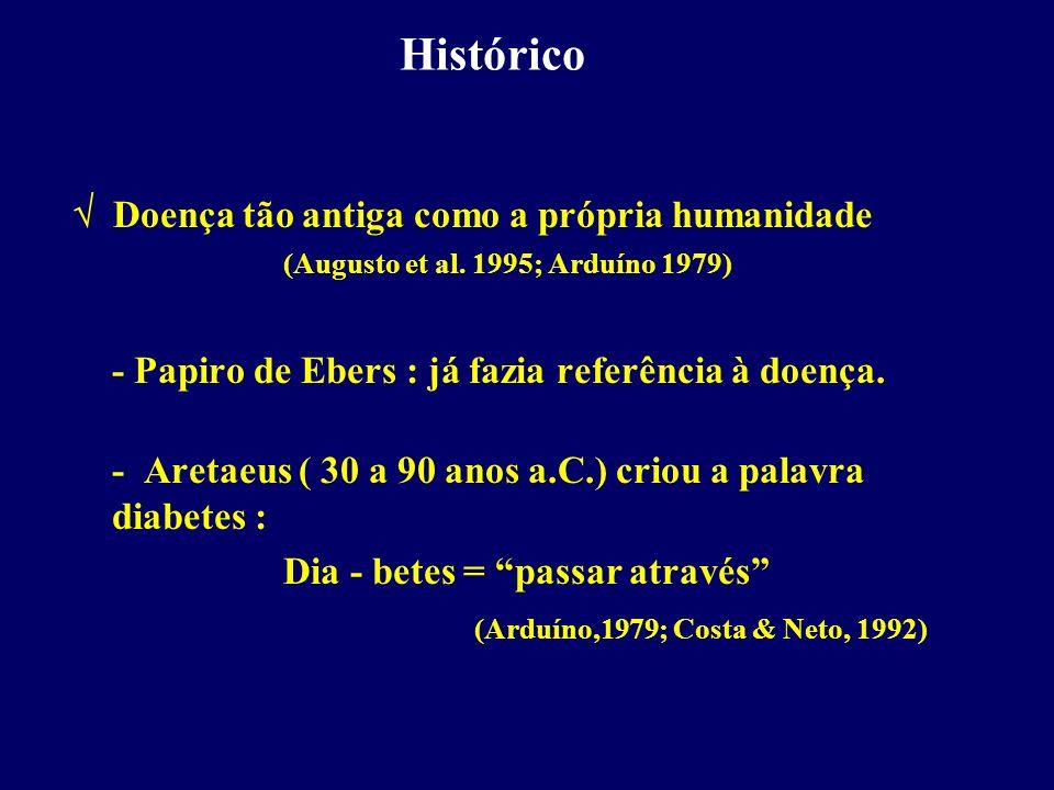 Histórico  Doença tão antiga como a própria humanidade (Augusto et al. 1995; Arduíno 1979) - Papiro de Ebers : já fazia referência à doença.