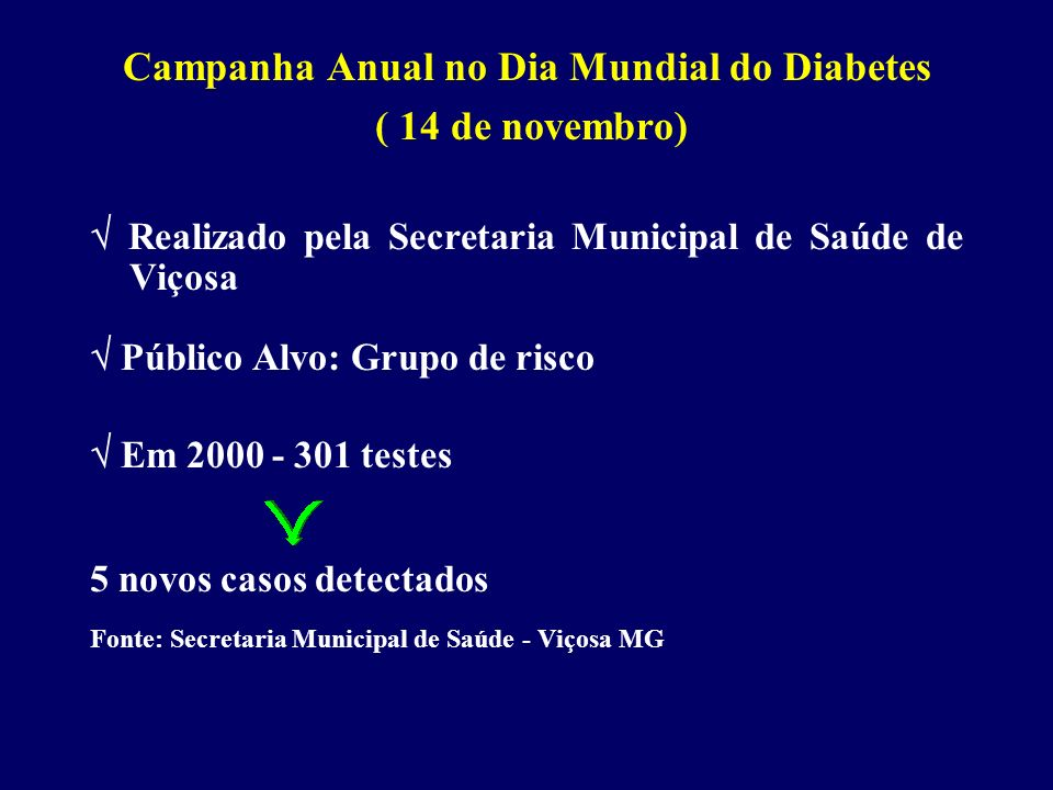 Campanha Anual no Dia Mundial do Diabetes