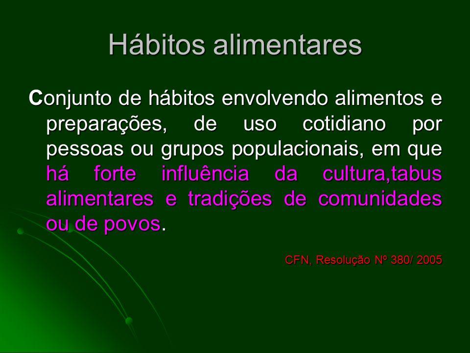 Hábitos alimentares CFN, Resolução Nº 380/ 2005