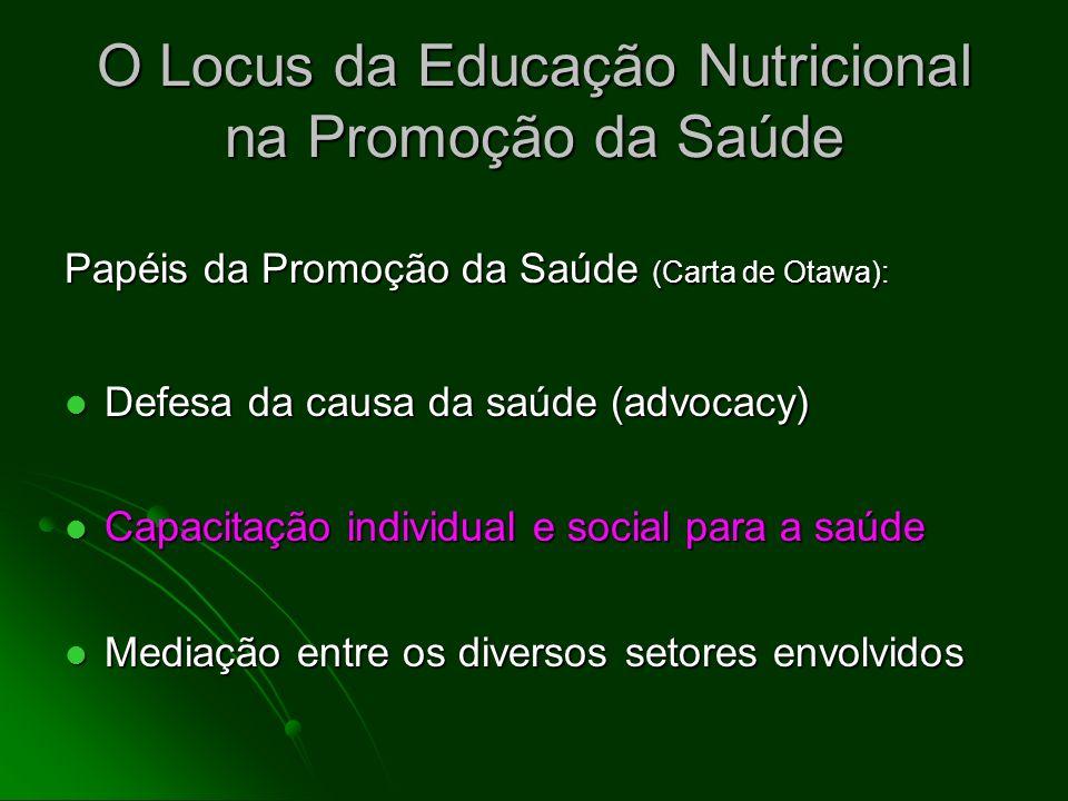 O Locus da Educação Nutricional na Promoção da Saúde