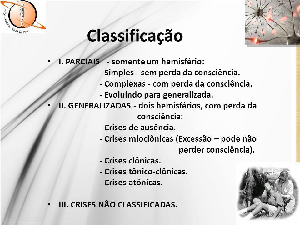 Classificação I. PARCIAIS - somente um hemisfério: