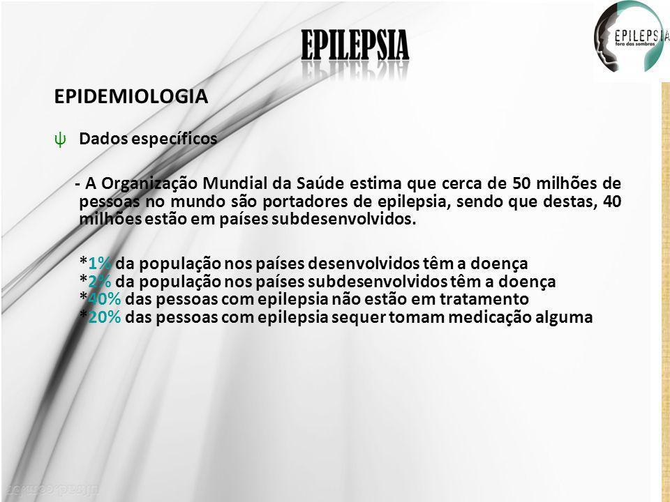 EPIDEMIOLOGIA Dados específicos