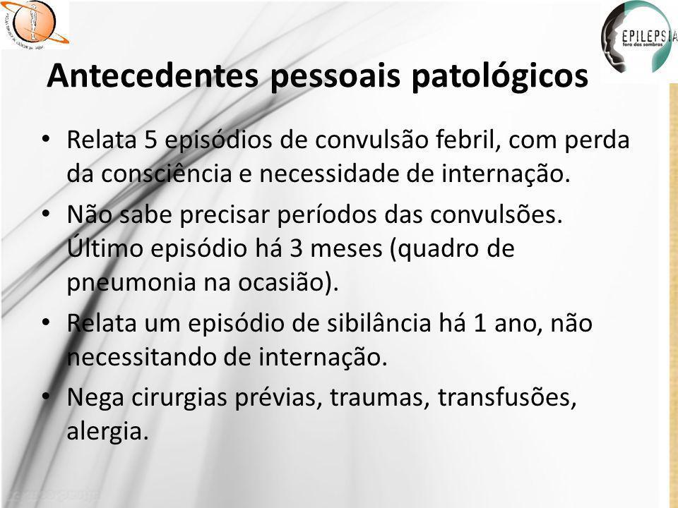 Antecedentes pessoais patológicos