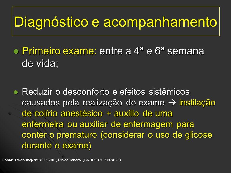 Diagnóstico e acompanhamento